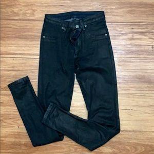 CARMAR black wax jeans